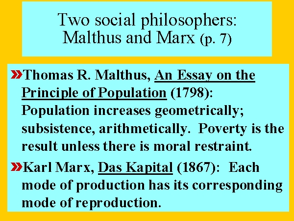 malthus thomas (1798) excerpts from an essay on the principles of population